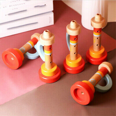 Funny Cute Wooden Trumpet Instruments Kids Toddler Educational Toys Z • 3.17£