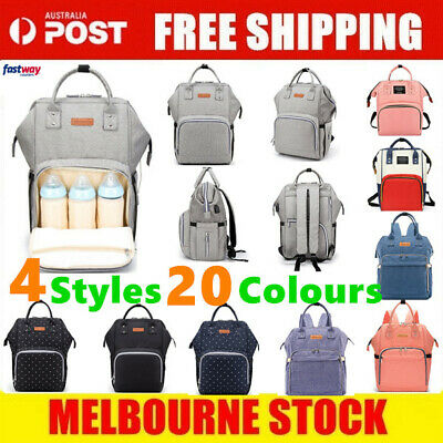 AU18.49 • Buy Luxury Multifunctional Baby Diaper Nappy Backpack Waterproof Mummy Changing Bag