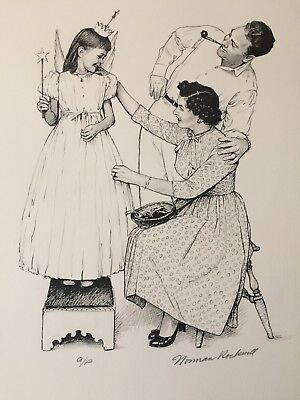 $ CDN1466.74 • Buy 1976 NORMAN ROCKWELL AMERICAN FAMILY Signed Print A/P-  Debut