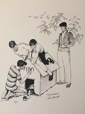 $ CDN1403.49 • Buy 1976 NORMAN ROCKWELL AMERICAN FAMILY Signed Print A/P-  Fido's House