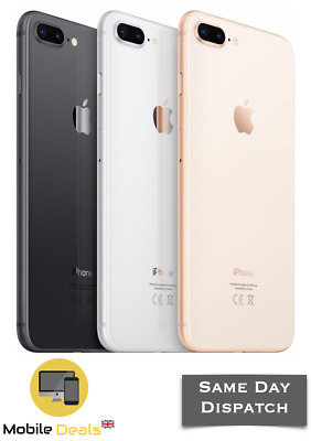 Apple IPhone 8 Plus 64GB & 256GB LTE IOS Smartphone Unlocked All 3 Colours  • 359.99£