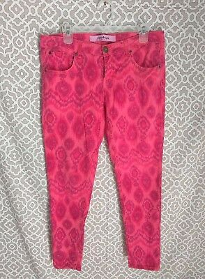 $6.99 • Buy Juniors FreeStyle Revolution Pink Tribal Print Cropped Skinny Pants Sz 11