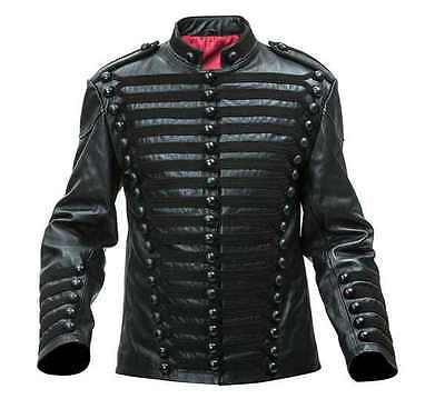 Napoleonic Hussars Pelisse/tunic In Leather - All Black - Made To Order • 425£