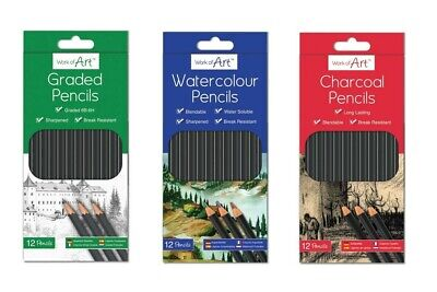 £2.99 • Buy 12x Graded Pencils Drawing Sketching Tones Shades Art Artist Picture Pencil Draw