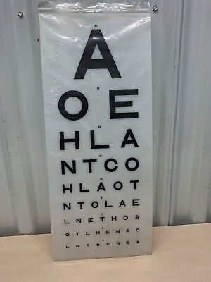 Eye Test Chart Medical Opticians Display (Replacement Light Box Charts Covers) • 42.32£