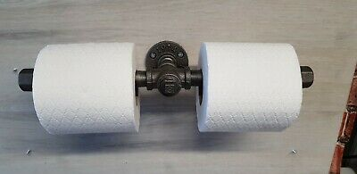 Double Toilet Roll Holder Made With 1/2   Shot Malleable Steel Pipe And Fitting • 15£