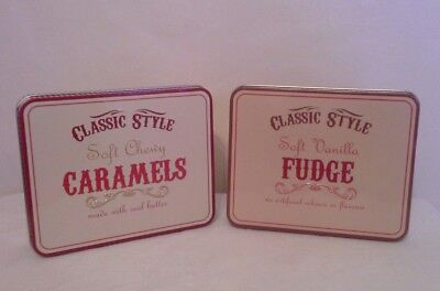 2 X Collectable Tins Classic Style Sweet Storage Tins ,Embossed Design, EMPTY  • 5£