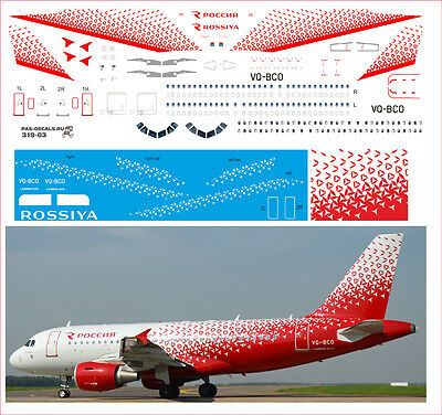 £10.65 • Buy 1/144 PAS-DECALS. ZVEZDA. Revell Airbus A319  Rossiya