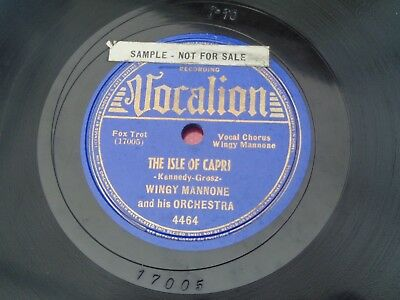 Wingy Mannone : The Isle Of Capri - Walkin The Streets : Vocalion 4464 : Sample • 9.79£