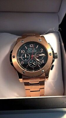 Daniel Steiger Men's Quartz Techmaster  Rose Gold SS Watch 8060-M Chronograph • 125$