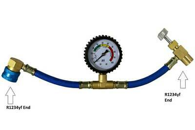 £15.40 • Buy R1234yf Charging Hose With R1234yf Can Tap With Gauge - Brass #3605