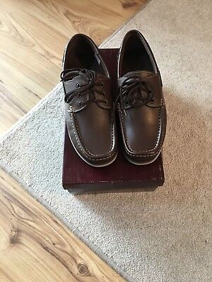 British Army Boat Shoes/deck/yacht Sailing Shoes • 25£