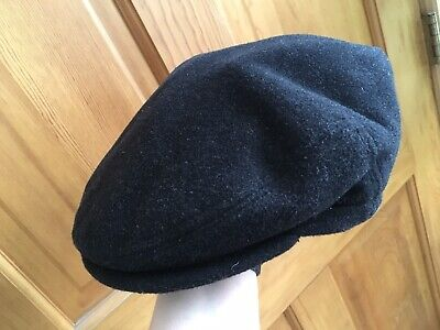 582bcf1d0ea25 Bailey Hat Flat Cap Black Wool Polyester Cashmere Size M Made In Italy •  18.00