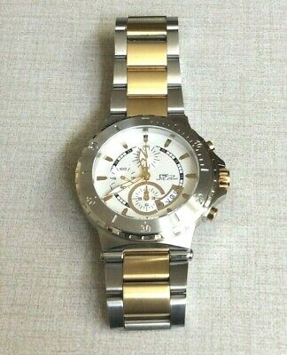 Daniel Steiger Men's Watch Atlantic Sport White Chronograph Dial Two Tone Band! • 112.50$