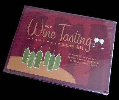 The Wine Tasting Party Kit~New/Sealed. • 9$
