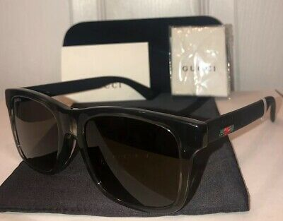 cd8a57d904e NEW Gucci GG0008SA Square Sunglasses 004 Black W  Web Stripe   Case •  173.95