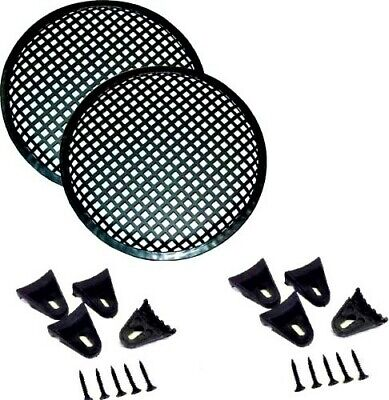 10 INCH STEEL SPEAKER SUB SUBWOOFER GRILL MESH COVER W// CLIPS SCREWS GLKT-10 2