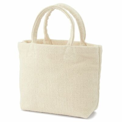 $35.99 • Buy Muji India White Mini Tote Bag Unbleached Hand-woven Moma Large Small Pocket