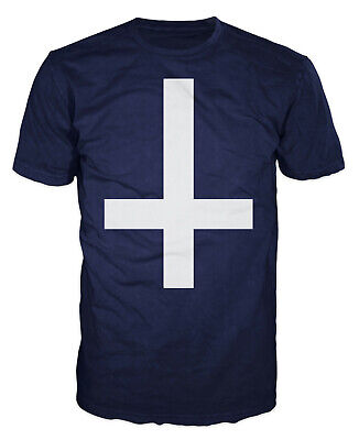 Inverted Cross Swag Hipster Wasted Youth Gothic Anti Faith T-shirt • 12.26£
