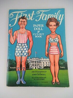 £7.65 • Buy First Family Paper Doll Cut-out Book 1981 Ronald Reagan (2440)