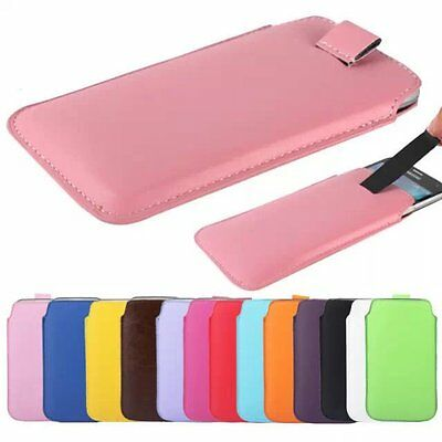$1.99 • Buy Pull Up Tab Strap Leather PU Phone Bags Cases Pouch Case For Series CellPhone