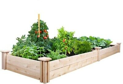 Raised Garden Bed Cedar Frame Expandable, Rot Resistant, 2 Ft. X 8 Ft. X 7 In. • 81.04£