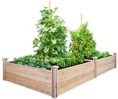 Raised Garden Bed Cedar Frame Expandable, Rot Resistant, 4 Ft. X 8 Ft. X 14 In. • 140.95£