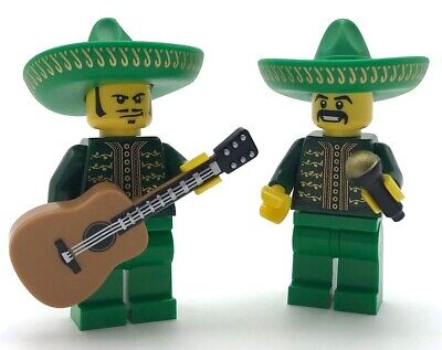 $ CDN19.87 • Buy Lego 2 New Mariachi Mexican Musicians With Acoustic Guitar And Microphone Figs