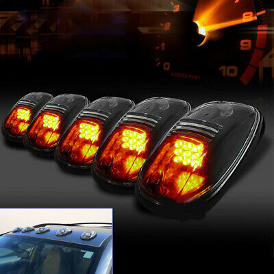 $30.99 • Buy 5Pcs Truck/SUV Smoked Lens Roof Top Full Amber LED Running Parking Cab Lights G