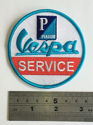 £3.75 • Buy Vespa Service Patch - Embroidered - Iron Or Sew On