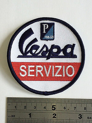 £3.75 • Buy Vespa Servizio Patch - Embroidered - Iron Or Sew On