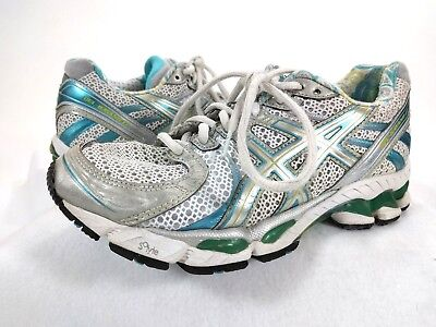 $19.55 • Buy ASICS Gel IGS White Silver Gel-Kayano 17 Duomax Running Sneakers Women's Sz 6.5