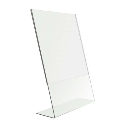 AU14.34 • Buy 8 X 10  Clear Acrylic Perspex Photo Frame Sign Holder Free Standing Portrait