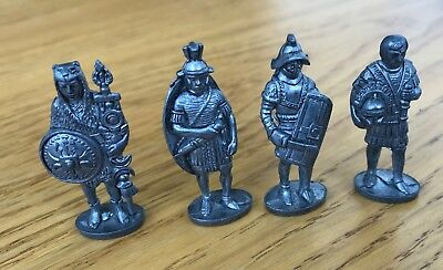 English Heritage Metal Toy Soldiers - Romans Soldiers X4 • 10£