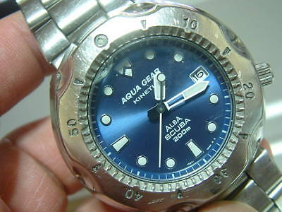 SEIKO ALBA 200m KINETIC Diver Watch Used Excellent Condition Rare Vintage Model • 674.50$