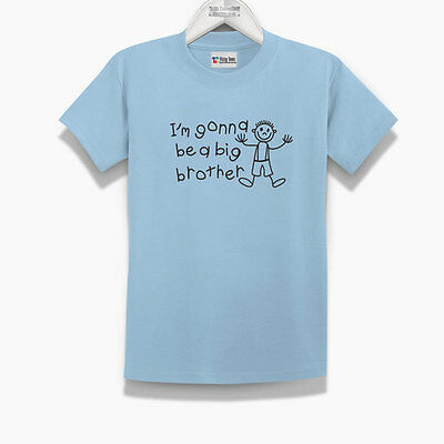 Kid's I'm Gonna Be A Big Brother T-Shirt (Brand New) - Kids Big Brother T-shirt • 6.99£