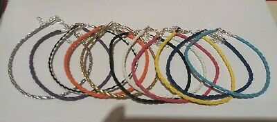 Braided Leather Anklet Ankle Bracelet - 13 Colours 9  + Ext - Buy 4 Get 1 Free • 1.89£