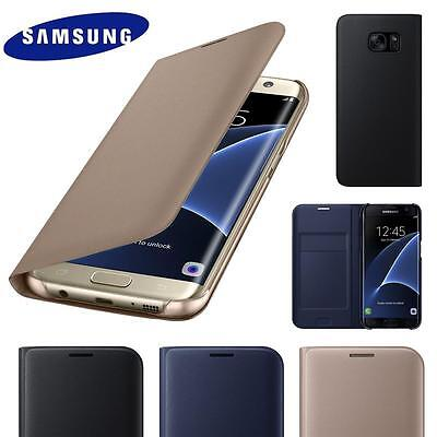 $ CDN5.13 • Buy New Genuine Leather Card Holder Wallet Flip Case Cover For Samsung Galaxy Phones
