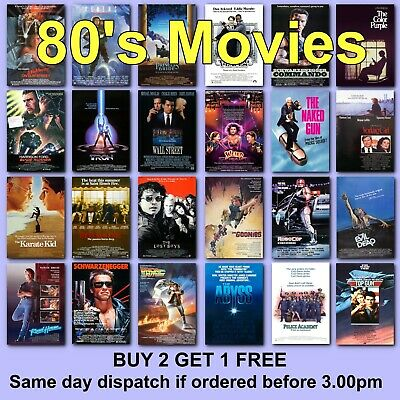 Poster Classic Movie Posters 1980s 80s Film Poster Films HD Borderless Printing • 2.97£