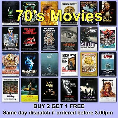 Poster Classic Movie Posters 1970s 70s Film Poster Movies HD Borderless Printing • 6.37£