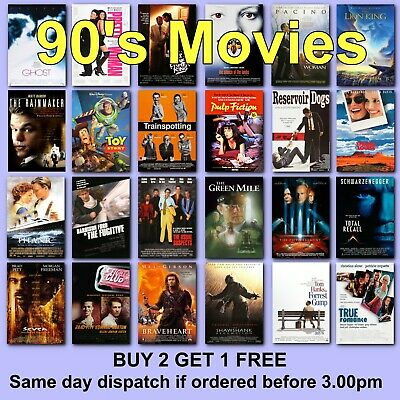 Poster Classic Movie Posters 1990s 90s Film Poster HD Borderless Prints Gift • 2.97£