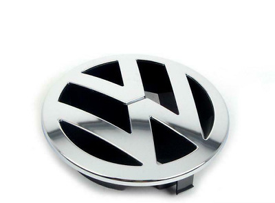 New Genuie VW TOUAREG (2003-2007) Front Bumper Grill Center Badge VW Emblem OEM • 57£