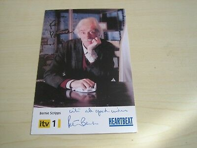 Peter Benson (Bernie In Heartbeat) Hand Signed RARE *FREE POST* • 35£