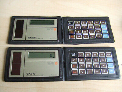 Vintage Casio SL-80 Calculator Slimline Solar Power Credit Card 1980s Japan #1 • 24£