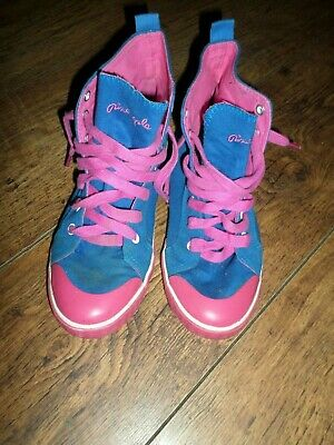 £9.99 • Buy Pineapple High Top Blue And Pink Lace Up Trainers