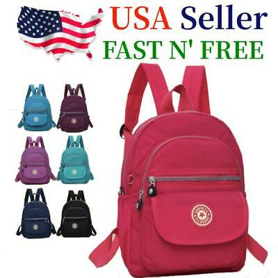 AU16.76 • Buy Waterproof Mini Backpack Women Purse Nylon Shoulder Rucksack Small Travel Bag
