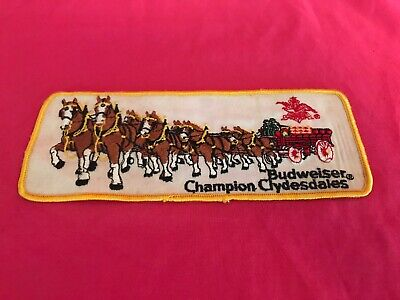 $ CDN22.77 • Buy Vintage Budweiser Champion Clydesdales Patch Beer Wagon