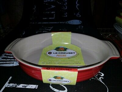 Le Creuset Red Oval Baking Dish 11 Inch, 28 Cm, New • 46.40£