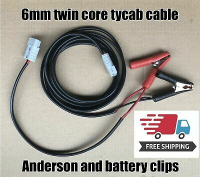AU74.99 • Buy 10m Double Y Adaptor 50 Amp Anderson Style Plug Twin 6mm Cable Alligator Clips