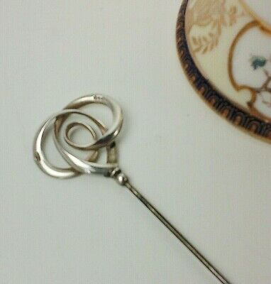 Edwardian Charles Horner Silver Hat Pin Chester 1909. Period Collectable. • 145£